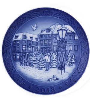 2018 royal copenhagen christmas plate - Royal Copenhagen Christmas Plates