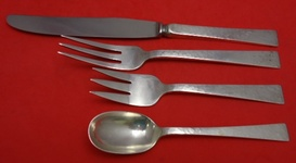 "Starlit by Allan Adler Sterling Silver Butter Spreader Flat Handle Pointed 6/"""