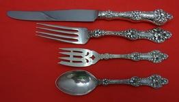 "OLD ORANGE BLOSSOM by Alvin Art Nouveau Sterling Silver DINNER FORKS 7.5/"" T mono"