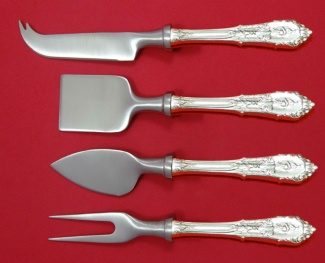 """Rose Point by Wallace Sterling Silver Grapefruit Spoon Fluted Custom Made 5 3//4/"""""""