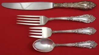 "Athene Crescendo by Amston Sterling Silver Baked Potato Fork 7 1//4/"" Custom"