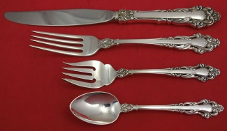 s Reed /& Barton Sterling Grande Renaissance 1967  4-Piece Place Setting