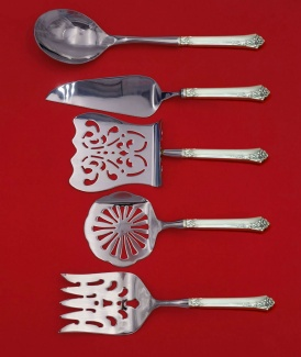 Damask Rose by Oneida Sterling Silver Steak Carving Set 2pc HHWS