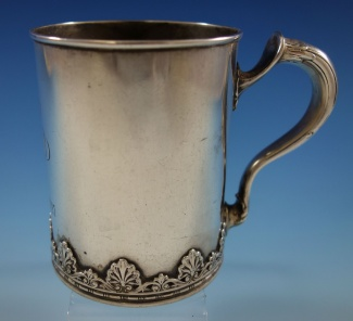 3640bbea6d0a Baby Cup By Whiting - w  applied shell border very much like Empire by  Whiting dated 1899 5.88oz 3 3 4
