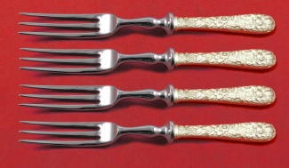 """Repousse By Kirk Sterling Silver English Server 7 1//2/"""" Custom"""