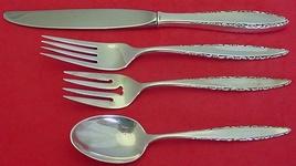 Sterling Silver Flatware Lunt Lace Point Salad Fork Original Sealed