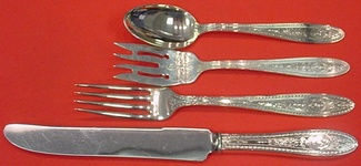 """Wedgwood by International Sterling Silver Grille Fork 7 5//8/"""""""