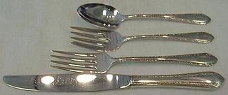 Wild Flower Royal Crest Sterling Silver Salad Fork