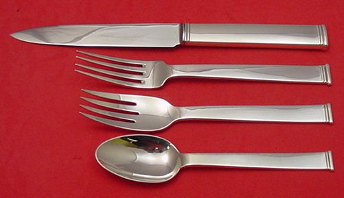 Commodore Set By Christofle Sterling Antique Silver