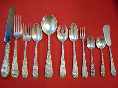 Silver Patterns - Forget-Me-Not - Set By Stieff - Antique Silver Patterns